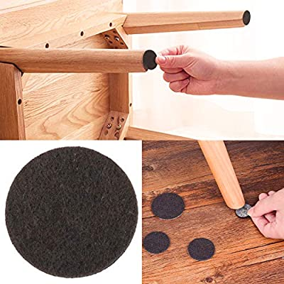 Furniture Pads Outgeek Chair Booties Self Adhesive Felt Furniture Pads 8 Sizes Best Floor Protectors for Your Hardwood Laminate Flooring No Scratch