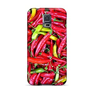 Hard Protect Phone Cases For Samsung Galaxy S5 (Qrz15221zzjm) Unique Design Vivid Red Hot Chili Peppers Pattern