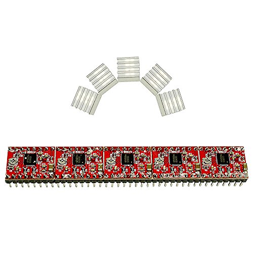 - Eiechip 5pcs/lot Reprap Stepper Driver A4988 Stepper Motor-Driver with Heatsink for 3D Printer Reprap, CNC Machine or Robotics