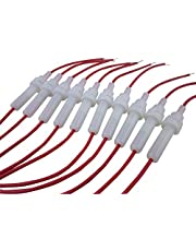 DIGITEN 6x30mm AGC Fuse Holder In-line Twist type with 20 AWG Wire (Pack of 10)