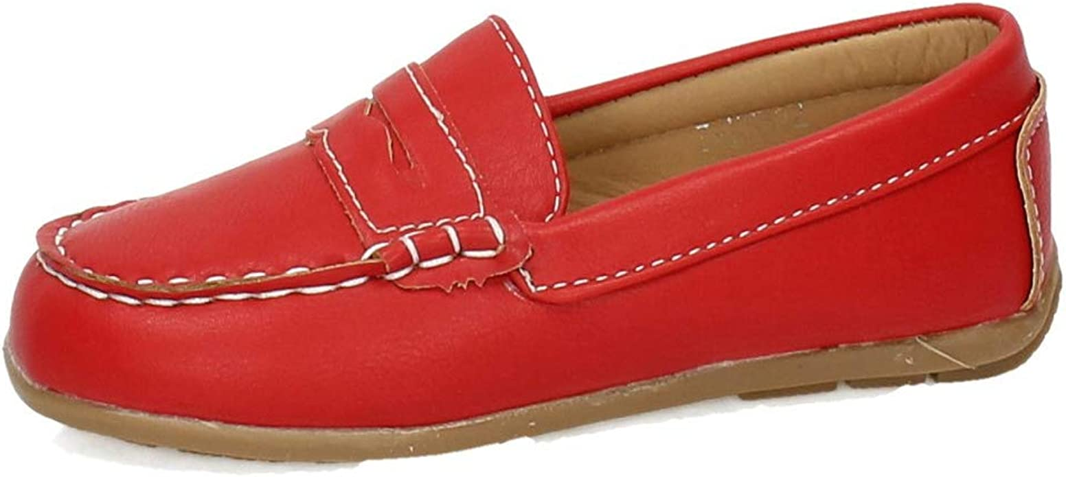 DEMAX 3-NS512 Mocasines Rojos NIÑO Zapatos MOCASÍN ...