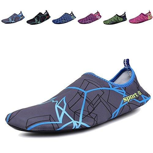 CIOR Männer Frauen und Kinder Quick-Dry Wasserschuhe Leichte Aqua Socken Für Beach Pool Surf Yoga Übung P1.blau