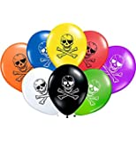"8 X 12"" Pirate Balloons Asstd - Uninflated (Pack of 8)"