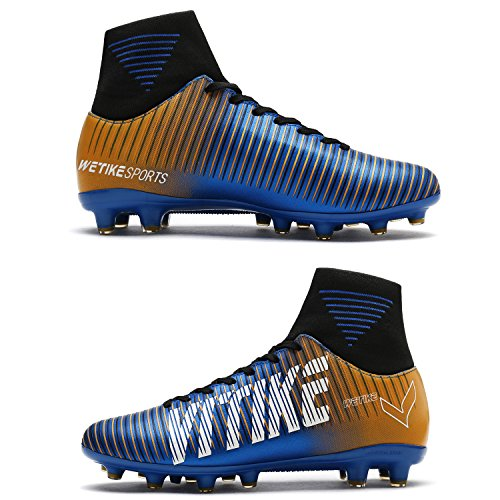 Pictures of WETIKE Kids Soccer Cleats Boys Youth Cleats 4