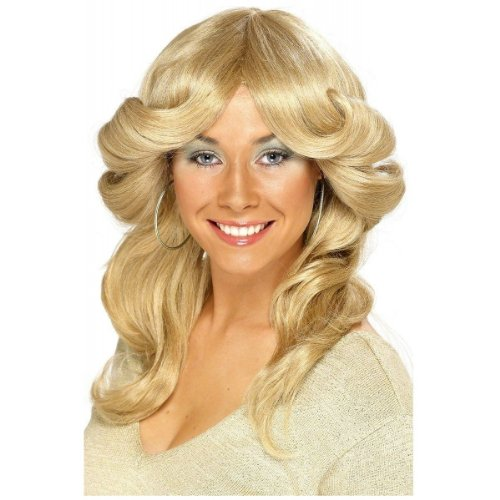 Seventies Flick Wig Costume (Farrah Fawcett Costume)