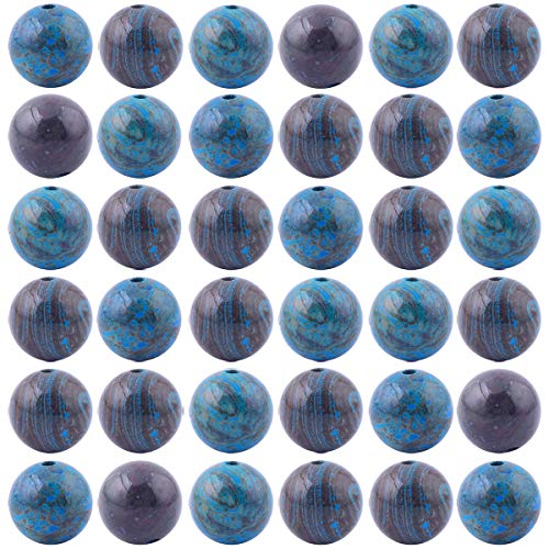- Natural Stone Beads 100pcs 8mm Crazy Blue Lace Agate Round Genuine Real Stone Beading Loose Gemstone Hole Size 1mm DIY Charm Smooth Beads for Bracelet Necklace Jewelry Making (Crazy Blue Lace Agate)