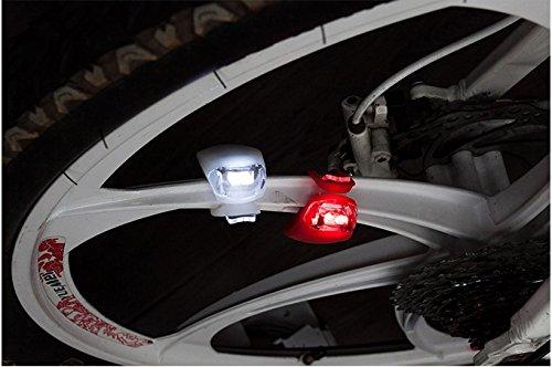 delantera y trasera, gran calidad, advertencia de seguridad MeetLocks Luces antiniebla para bicicleta