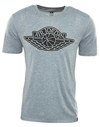 Nike Mens Jordan Iconic Wings T-Shirt Dark Grey Heather/S...