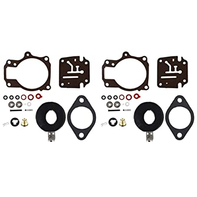 2 X Carburetor Carb Rebuild Repair Kits with Float Fit for Johnson Evinrude 396701 18 20 25 28 30 35 40 45 48 50 55 60 65 70 75 HP: Automotive