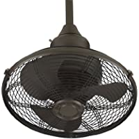 Fanimation OF110OB Extraordinaire Ceiling Fan with Wall Control, 360 degree Rotation, 18-Inch, Oil-Rubbed Bronze