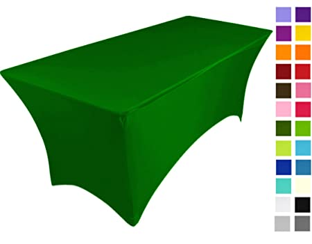 Spandex Lycra Stretch Cover Tablecloth for 6FT table 183 x75 x75 in 15 Colours
