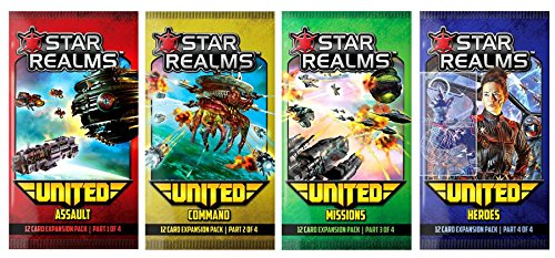 Star Realms: United - complete set of all four mini expansions (Assault, Command, Missions, Heroes) by Star Realms by White Wizard Games
