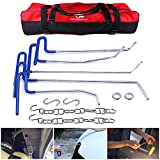 11Pcs Auto Car Body Paintless Dent Puller Repair Tools AUTOPDR Pops a Dent Auto Car Dent Removal Remover Tools Pdr Rod Kit Car Hail Damge Repair Starter Set Equipment with Tool Bag (Blue)