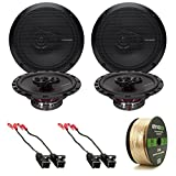 4x Rockford Fosgate R165X3 Prime 6.5'' Inch 180 Watt 3-Way Full-Range Black Car Coaxial Audio Speaker Bundle Combo With 4x Speaker Harness for Select 1984-2013 GM Vehicles + 50 Ft 16-Gauge Speaker Wire