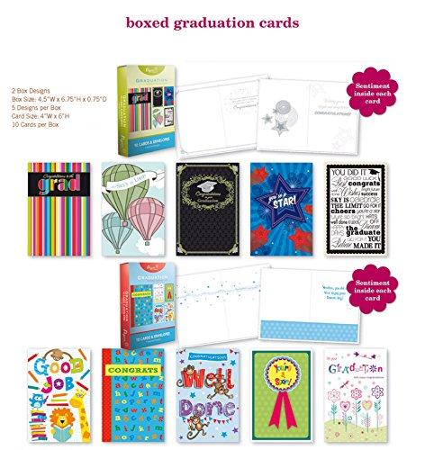 20PK BOXED GRADUATION CARDS Bulk WITH SENTIMENT - COLLEGE EL