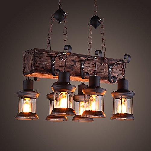 BGTJZY Pendant Lighting Chandelier for Kitchen Island and Dining Room Lving Room Bedroom Industrial solid wood 5542100cm Pendant Lights
