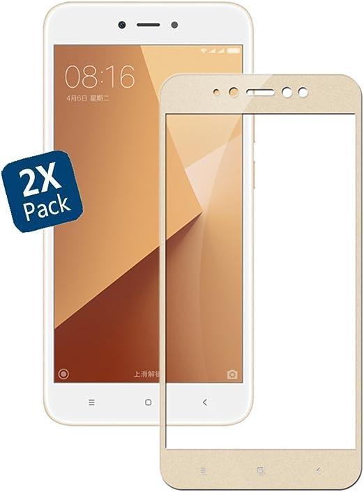 GOGME Cristal Templado para XiaoMi RedMi Note 5A Prime, 9H Rounded Edge: Amazon.es: Electrónica
