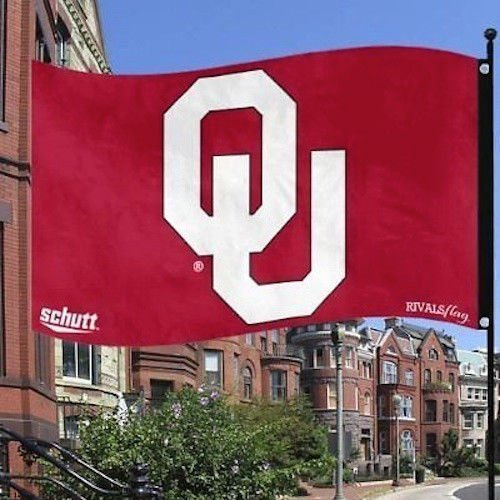 NCAA Oklahoma Sooners Schutt Rivals Flag 3x5 Feet 2 Sided w/ Grommets