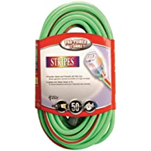 Coleman Cable 02649-00-54 10/3-Wire Gauge 100-Feet Neon Stripe Outdoor Extension Cord with Lighted Ends (Green/Red)