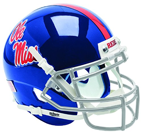 Schutt NCAA Ole Miss Rebels Mini Authentic XP Football Helmet, Alt. 2