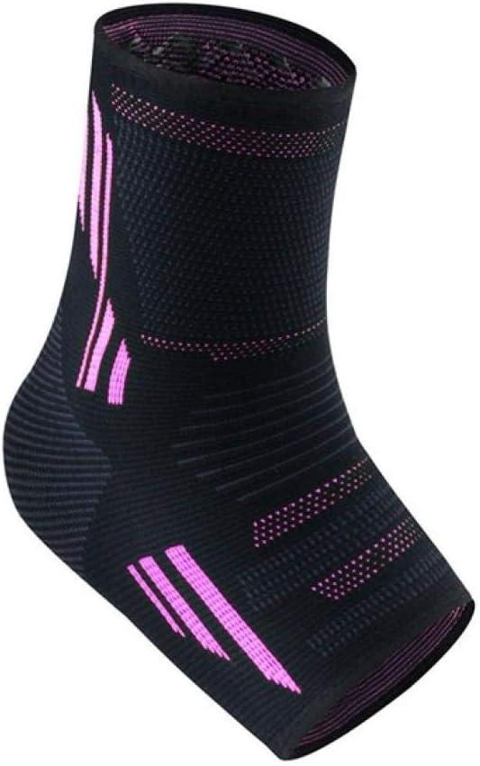 Y-fodoro 1 par de calcetines impresos con soporte para el tobillo, calcetines de punto antideslizantes y antiescaras, para calcetines de compresión con cubierta de talón deportivo-Pink_Xl