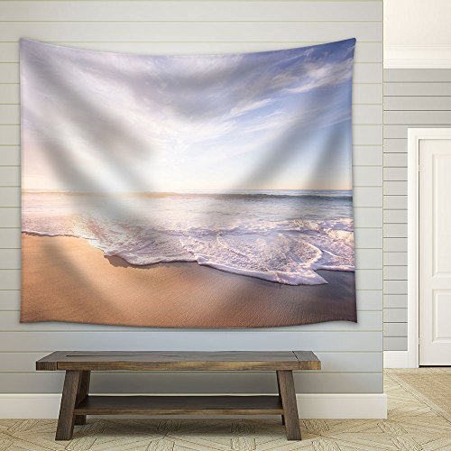 Ocean Waves on the Beach in Fair Weather Fabric Wall