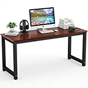 "Tribesigns Computer Desk, 63"" Large Office Desk Computer Table Study Writing Desk for Home Office"