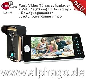 Funk- Video Türsprechanlage ALP-403 (nachfolge Modell ALP-400) NEU:...