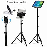 Best Tripod Adjustable For IPad Minis - iPad Tripod Stand, LetsRun Height Adjustable Foldable Floor Review