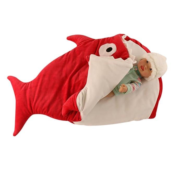Finerolls Tiburón Lindo Bebé Bolsa del Sueñ