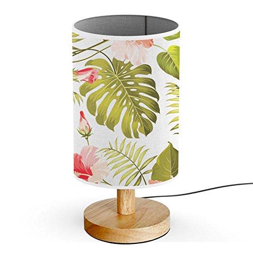 ArtLights - Wood Base Decoration Desk / Table / Bedside Lamp [ Tropical Rainforest ]