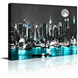 canvas wall art blue sea New York paintings Wall Art,Black and White Stretched wall art for bedroom artwork Canvas Art Prints, 12