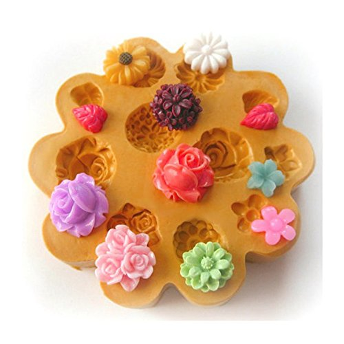 Sugarcraft Moulds Polymer Clay Cake Border Mold Soap Moulds Resin Candy Chocolate Cake Decorating Tools flowers mould 698