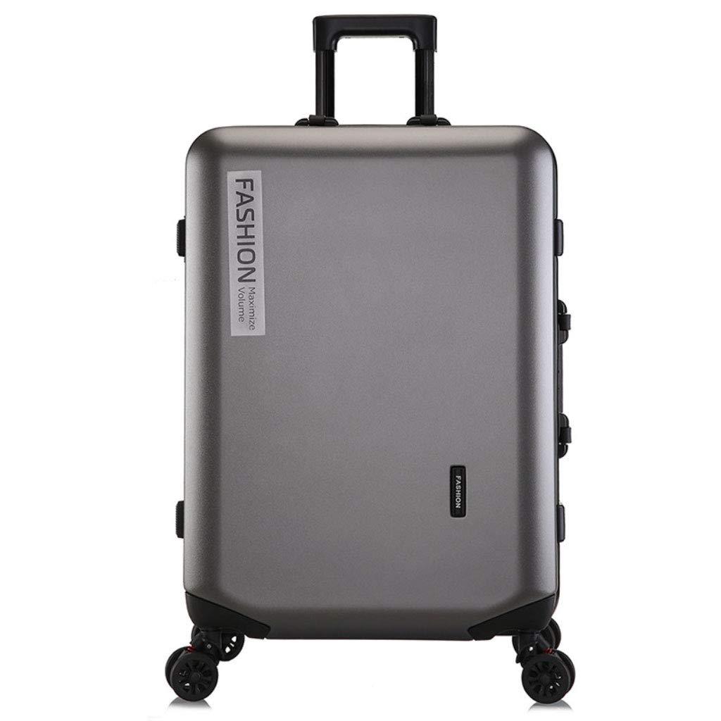トロリーボックスカスタムPCジッパーユニバーサルホイール荷物ファッションビジネスパスワード20インチのボーディングアウトドアスーツケース (Color : Dark gray, Size : 22 inches)   B07R8X7LZY