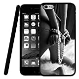 iPhone 6S Plus Case, Customized Black Soft Rubber iPhone/Apple 6/6S Plus Case Fifty Shades of Grey-The white Mattress