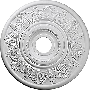Ekena Millwork CM20SHPGS Shakuras Ceiling Medallion 19 3/4″OD x 1 3/8″P (For Canopies up to 5″) Factory Primed
