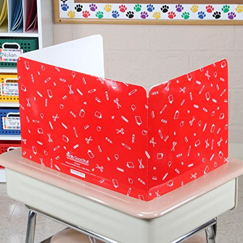 Really Good Stuff Jr. Privacy Shields for Student's Desks - Keeps Their Eyes on Their Own Test/Assignments (High Gloss (12 Shields), Assorted)