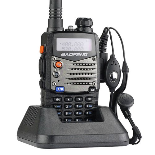 Baofeng UV5RA Ham Two Way Radio 136-174/400-480 MHz Dual-Band Transceiver (Black), Outdoor Stuffs