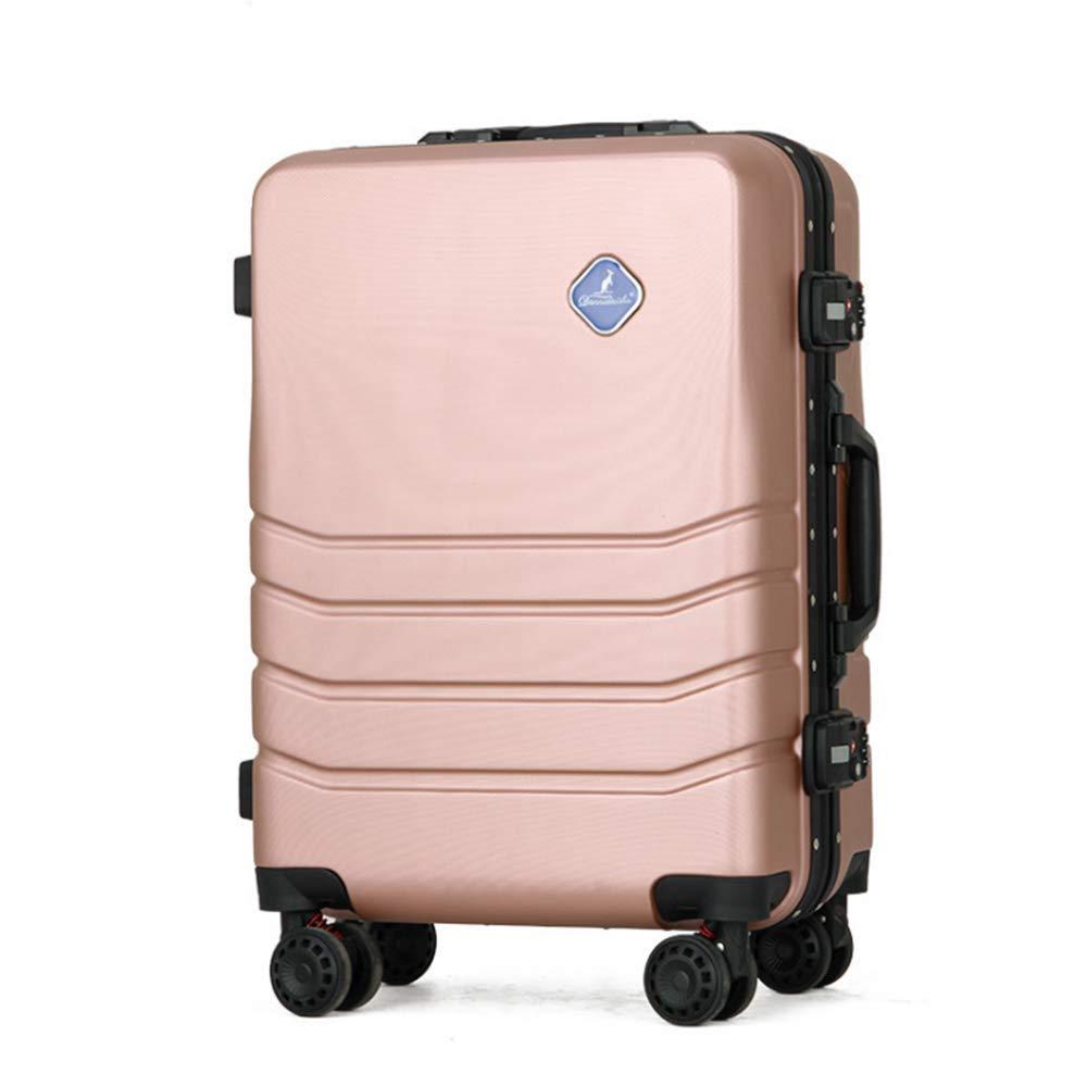 荷物 ABS トロリースーツケーススピナーハード軽量 TSA, ピンクグリーン,Pink  Pink B07JY5NZVX