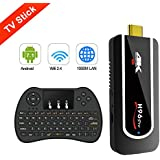【 2018 MODEL H96 Pro TV Stick】 Android 7.1 OS TV BOX Amlogic S912 4K HD 2GB/8GB Emmc Handheld MINI PC with 2.4GHz Wifi & BT 4.1 (Wireless Keyboard Controller)