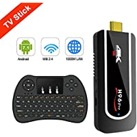 【 2018 AMAZING MODEL 】H96 Pro Handheld TV Stick MINI TV BOX , Android 7.1 OS MINI PC Travel Machine Amlogic S912 4K HD 2GB/8GB Emmc with 2.4GHz Wifi & BT 4.1 (Wireless Keyboard Controller)