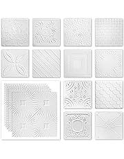 Plafondplaten piepschuim XPS - wit veel motieven 50x50cm - voordeelpakket nr. 01 tot nr. 69
