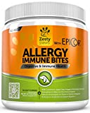Allergy Immune Soft Chews for Dogs - With EpiCor for Seasonal Allergies & Immune System - Digestive Prebiotics & Probiotics + Wild Alaskan Salmon Fish Oil for Natural Omega 3 Support - 90 Count