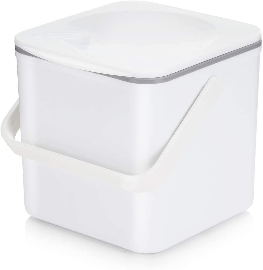Minky Homecare Food Compost Caddy, White