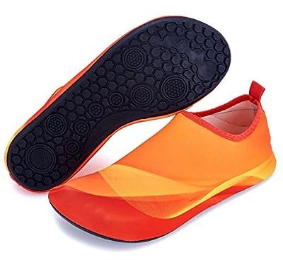 Giotto Barefoot Swim Water Shoes Quick Dry Non-Slip for Kids Women Men-Orange-36-37