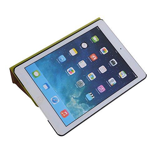 inShang 9.7 inch iPad (2017) Fundas soporte y carcasa para Apple 9.7 inch iPad (2017) ( , smart cover PU Funda ,art style green
