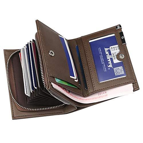 Capacità Pack B Moda Cerniera Carta Casual Chenhui Organo Nuovo Portafoglio Breve Uomo Grande nqBpWROAF