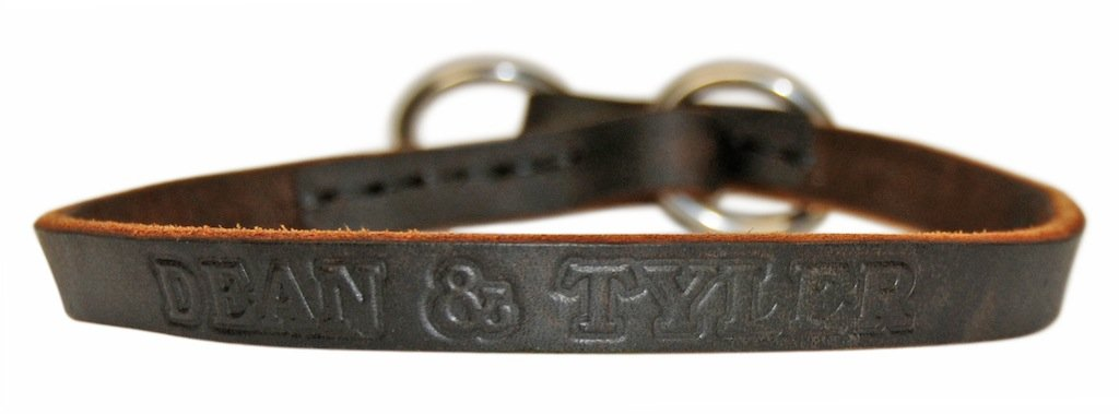 Dean and Tyler  TRANQUILITY  Choke Dog Collar  Stainless Steel Hardware  Brown  Size 102cm x 1cm Width. Fits neck size 38 Inches to 40 Inches.