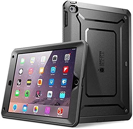 Black 2014 Release Full-body Rugged Hybrid Protective Case with Built-in Screen Protector 2nd Generation SUPCASE iPad Air 2 Case, Apple iPad Air 2 Case Heavy Duty Unicorn Beetle PRO Series
