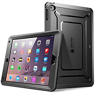 iPad Air 2 Case, SUPCASE Apple iPad Air 2 Case 2nd Generation 2014 Release Unicorn Beetle PRO Series Full-Body Rugged Hybrid Protective Case Cover with Built-in Screen Protector, Black/Black